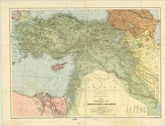 Turkey History, Geography Map, Vintage World Maps, Asia, American, Digital, Collection