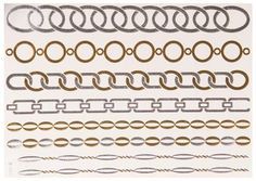 Temporäres Diamond Chain Tattoo in Gold&Silber: Im Angebot nur 5,90 € ▷ Jetzt Diamond Chain Tattoo bei POSH Tattoo bestellen!