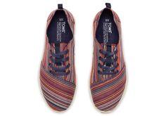 Multi Dark Denim Woven Men's Viaje Sneakers | TOMS ($79)