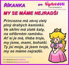 My se máme nejradši (princezna)_ Diy Crafts Videos, Diy Crafts For Kids, Tromso, Motto, Kindergarten, Poems, Classroom, Activities, Humor