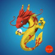 My dragon koi fish