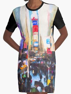 """""""Times Square"""", new style T-shirt dress now in my online shop http://www.redbubble.com/people/chrisarmytage/collections/546577-dresses"""