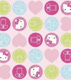 Nursery Fabric-Hello Kitty Dot Toss FleeceNursery Fabric-Hello Kitty Dot Toss Fleece,