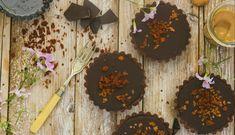 Chocoladetaartjes met karamel en Gerookte Speckjes