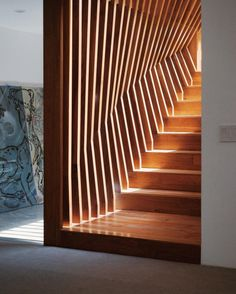Studio staircase by @dbarchitecture with the Goat leaning in the...