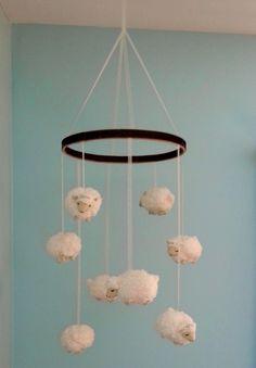 Happy Medley: Little Lamb Nursery Mobile (DIY)