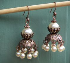 Bead jacket earrings
