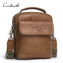 CONTACT'S Genuine Leather Shoulder Bags Fashion Men Messenger Bag Small ipad Male Tote Vintage New Crossbody Bags Men's Handbags(China) Leather Men, Leather Fashion, Fashion Men, Leather Bags, Fashion Bags, Canvas Leather, Cowhide Leather, Real Leather, Style Fashion