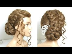Updo Hairstyle For Long Hair Tutorial - YouTube