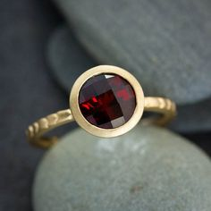 Other Wedding Jewelry 2.00 Ct Square Princess Cut January Birthstone Garnet Sterling Silver Solitaire Numerous In Variety
