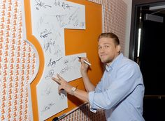Charlie Hunnam from The Big Picture: Today's Hot Pics V for Victory! The King Arthur: Legend of the Sword star visits the Fandango Studio at Comic-Con.