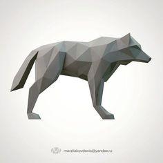 lowpoly wolf | 3D Print Model