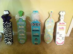 Getting paddled. TFM. Decorating with paddles. TSM. love the far right