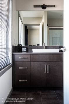 Industrial Bath Design By Calgary Kelowna Interior Designer Euro Tile Reflex Nero Black 12 X
