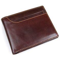 J.M.D Genuine Leather Case RFID Wallet For Men's Credit Card Holder R-8104Q