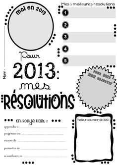 Résolutions pour 2013 (français):  This would have been perfect for our holiday pen pal letter.  Next year!