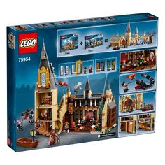 LEGO Harry Potter Hogwarts Great Hall 75954 Building Kit and Magic Castle Toy, Fantasy Creatures, Hermione Granger, Draco Malfoy and Hagrid Pieces) Lego Harry Potter, Harry Potter Film, Objet Harry Potter, Harry Potter Merchandise, Theme Harry Potter, Harry Potter Hogwarts, Lego Hogwarts, Hogwarts Great Hall, Draco Malfoy