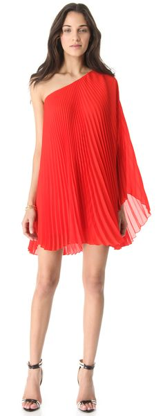 Nicola Pleated One Shoulder Dress