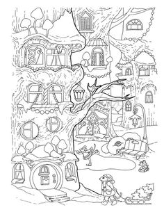 Nice Little Town Christmas 2 Adult Coloring Book (Stress Relieving Coloring Pages, Coloring Book for Relaxation) is part of Coloring books - For personal use only Free Adult Coloring, Adult Coloring Book Pages, Christmas Coloring Pages, Animal Coloring Pages, Coloring Pages To Print, Free Coloring Pages, Printable Coloring Pages, Coloring For Kids, Coloring Books