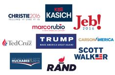The Real Republican Debate - Students Rate The Candidates' Logos To Learn Visual Civics