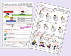 Les maths et moi (fichier Grandeurs et mesures pour CP) - le stylo de vero Cycle 2, Bullet Journal, Red Band, Days Of Week, 1st Grades, Children, Projects