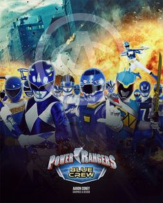 Blue Crew: RS3 Edition Power Rangers Turbo, Power Rangers In Space, Power Rangers Toys, Power Rangers Samurai, Rangers Team, Go Go Power Rangers, Blake Foster, Vr Troopers, Blue Crew
