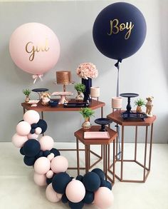 Best Selected Creative Baby Shower Themes 2019 - Page 8 of 22 - hairstylesofwomens. com baby shower ideas;baby shower ideas for boys; reveal ideas for party Gender Reveal Party Decorations, Baby Gender Reveal Party, Baby Shower Decorations For Boys, Twin Gender Reveal, Gender Reveal Themes, Gender Reveal Balloons, Gender Reveal Invitations, Baby Reveal Party Ideas, Baby Gender Revealing