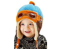 Sombrero de piloto para bebés. Cómodo y traspirable. ¡Para despertar su imaginación!GASTOS DE ENVÍO: 1,99€