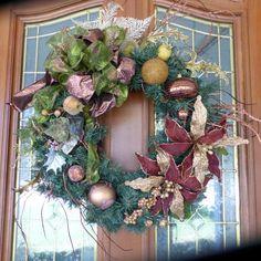 Elegant Christmas Wreath  Christmas by JulieButlerCreations
