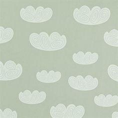 Cloud Wallpaper by Ferm Living Ferm Living Wallpaper, Cloud Wallpaper, Kids Wallpaper, Print Wallpaper, Pattern Wallpaper, Cream Wallpaper, Mens Bedding Sets, Wall Drawing, Contemporary Wallpaper