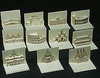 3D Popup kirigami postcards
