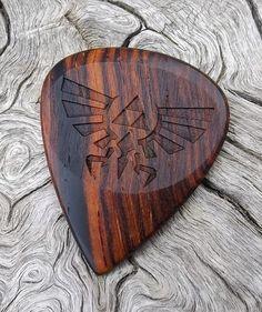 Cocobolo Rosewood Handmade Premium Guitar Pick - Laser Engraved - Actual Pick Shown - No Stock Photos