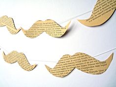 Moustache party garland paper bunting by OKIFOLKI on Etsy, £15.00