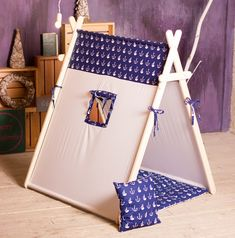 """Play tent """"Marine"""", A-frame tent, kids tent. by ArtStudioBrusok on Etsy"""