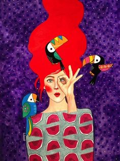 Hülya Özdemir is an artist born in Istanbul, Turkey, who creates beautiful images halfway between art and illustration, with watercolors. The protagonists of th Art And Illustration, Pop Art, Arte Fashion, Fashion Design, Poster Prints, Art Prints, Canvas Prints, Watercolor Artwork, Animal Design
