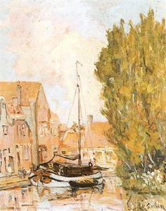 Gracht in Meppel. Klaas Smink 1879-1969