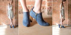 Blue Ankle Boots - Custom - Poppy Barley #ATBxPBFashionRoundup