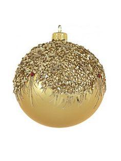 Dagmara - Frosted Glass Ball Ornament