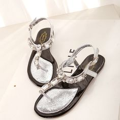 summer pu flat sandal Flat Sandals from fashionmia.com