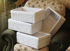Как сделать корзину из газеты