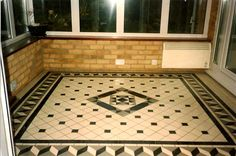 Retro Victorian tiles really add style to this room