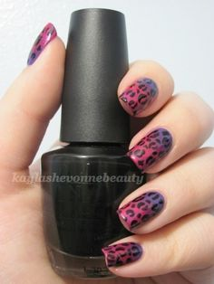 Gradient Cheetah- if only i could do this myself Sparkle Nail Designs, Sparkle Nails, Glam Nails, Beauty Nails, Fun Nails, Nice Nails, Nail Polish Style, Nail Polish Designs, Nail Art Designs