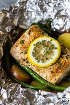 Grilled Mahi Mahi and Vegetables in Foil Packets | The Beach House Kitchen
