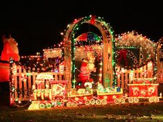 Over-the-top Christmas Lighting Displays