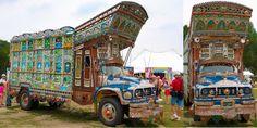 @FaaadKhan Pakistani Truck at @smithsonian Museum, #Washington DC, #US. #art #culture Truck Painter Haider Ali @usconsulatekhi