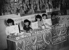 Valentine's Day in Jerome Relocation Center, 1944 Co Op Store, Japanese American, Fourth Grade, Arkansas, Wwii, The Help, Investing, Enabling, Valentines