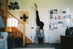 this is exactly how i handstand...up against a closed door.
