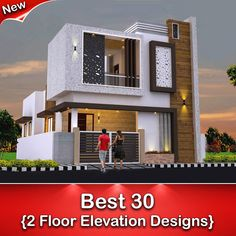 Best 30 Front Elevation designs For 2 Floor House House Outer Design, Single Floor House Design, House Outside Design, House Front Design, Small House Design, Home Design, Narrow House Designs, Best Modern House Design, Indian House Exterior Design