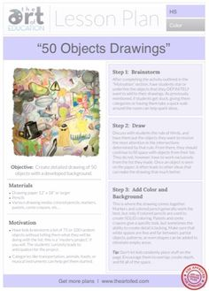 50 Objects Drawings: Free Lesson Plan Download (The Art of Education)