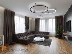 Фото дизайн интерьера гостиной из проекта «Дизайн квартиры в современном стиле, ЖК «Смольный парк», 175 кв.м.»